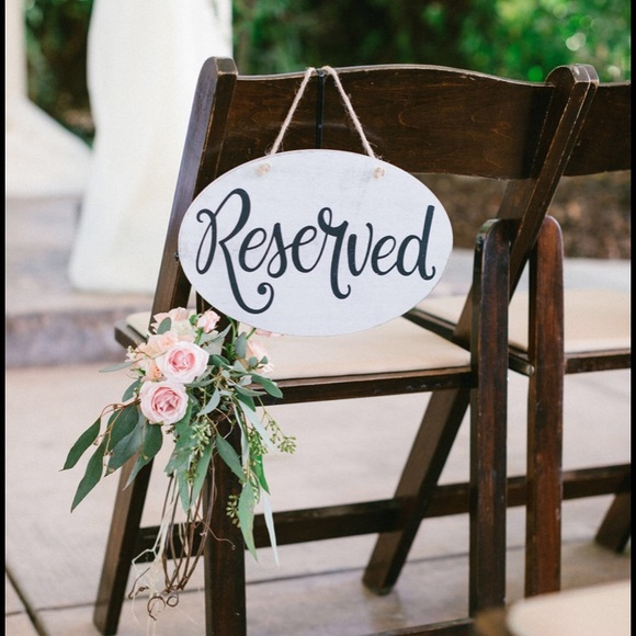 Hobby Lobby Party Supplies Pair 2 Reserved Signs Wedding Decor